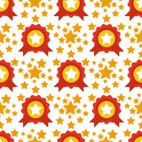 Seamless pattern with stars award decorative modern print wallpaper colorful texture design decoration vector Stock Images