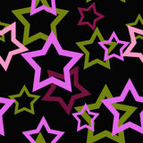 Seamless pattern with stars background Royalty Free Stock Images