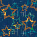 Seamless pattern with stars background Royalty Free Stock Photos
