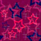 Seamless pattern with stars background Stock Images