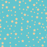 Seamless pattern with stars on a blue background Royalty Free Stock Photos
