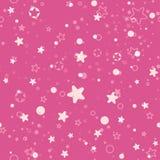 Seamless pattern stars and circle. Stock Photo