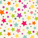 Seamless pattern with stars. Colorful seamless background. Festive seamless wallpaper with coclorful stars Stock Photos
