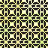Seamless pattern stars flowers Ornament of Russian folk embroidery, orange green on black background. Can be used for fabrics,. Wallpapers, websites. Vector vector illustration