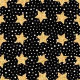 Seamless pattern of stars Royalty Free Stock Image