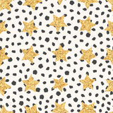 Seamless pattern of stars Royalty Free Stock Images