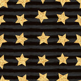 Seamless pattern of stars Stock Photos