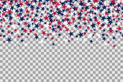 Seamless pattern with stars for Memorial Day celebration on transparent background. Vector Illustration royalty free illustration