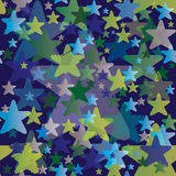 Seamless Pattern with Stars - Night Sky Background Royalty Free Stock Photos