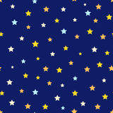 Seamless pattern with stars. Night sky. Vector illustration Royalty Free Illustration