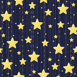 Seamless pattern with stars. Seamless night pattern. Vector background with stars Royalty Free Stock Images