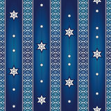 Seamless pattern with stars and ornaments Stock Photography