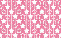Seamless pattern with stars on pink background. Stock Photos