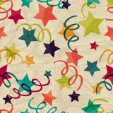 Seamless pattern with stars and serpentine on Royalty Free Stock Photo