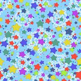 Seamless pattern, stars and snowflakes Royalty Free Stock Photography