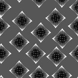 Seamless pattern of stars and snowflakes. Fashion black and white seamless pattern, doily round, design stars elements Royalty Free Stock Photos