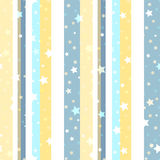 Seamless pattern with stars on a striped background Stock Photography