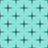 Seamless pattern with stars on a turquoise background. Royalty Free Stock Photo