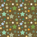 Seamless pattern with stars Royalty Free Stock Photo
