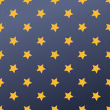 Seamless pattern with stars vector illustration. Stock Images