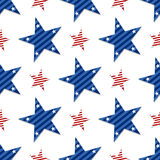 Seamless pattern of stars on white background.4th July. Stars and stripes wallpaper Royalty Free Stock Photography