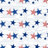 Seamless pattern of stars on white background.4th July. Stars and stripes wallpaper Stock Photography