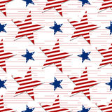 Seamless pattern of stars on white background.4th July. Stars and stripes wallpaper Royalty Free Stock Image