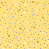 Seamless pattern with stars on a yellow background. Stock Photography