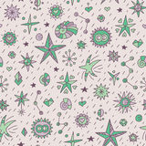 Seamless pattern with stars vector illustration