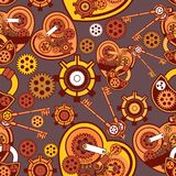 Seamless pattern Steampunk mechanism Stock Images