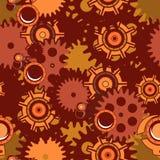Seamless pattern Steampunk mechanism Stock Photo