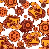 Seamless pattern Steampunk mechanism Royalty Free Stock Photos