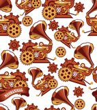 Seamless pattern Steampunk mechanism Royalty Free Stock Photography