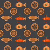Seamless pattern steampunk Royalty Free Stock Photos
