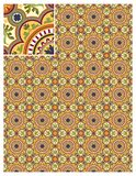 Seamless pattern stock vector, use for tiled background, Colored stock illustration