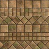 Seamless pattern of a stoned tile. Geometrical figures. Good for replicate Royalty Free Stock Images