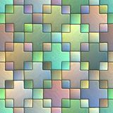 Seamless pattern of a stoned tile. Geometrical figures. Good for replicate Stock Photos