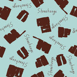 Seamless pattern from Stonehenge stones Stock Photography