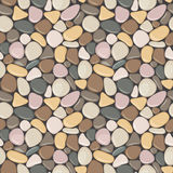 Seamless pattern with stones. Vector seamless background with smooth pebble. Stock Photography