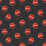 Seamless pattern, stop sign, vector illustration, cartoon illustration. Seamless pattern, stop sign, vector illustration, cartoon Royalty Free Stock Photography