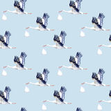 Seamless pattern.Stork with baby. Royalty Free Stock Photography