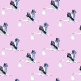 Seamless pattern.Stork with baby. Stock Images