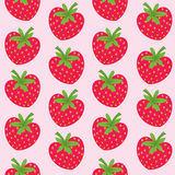 Seamless pattern with strawberries Royalty Free Stock Photo
