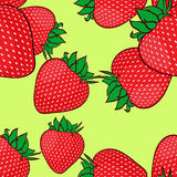 Seamless pattern with strawberries. Stock Photography
