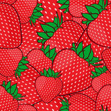 Seamless pattern with strawberries. Royalty Free Stock Photography