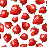 Seamless pattern with strawberries. Stock Photo