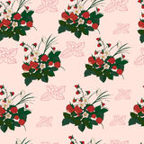 Seamless pattern with strawberries. Background with colored strawberries.Illustration with berries vector illustration