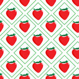 Seamless pattern with strawberries Royalty Free Stock Images