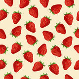 Seamless pattern Strawberries Stock Photos