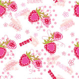 Seamless pattern with strawberries Royalty Free Stock Image